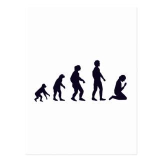 人間の進化、姿、ギフト ポストカード