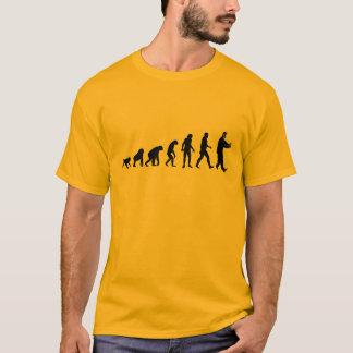 人間の進化Taiのキー Tシャツ