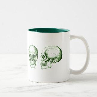 人間の頭骨 ツートーンマグカップ