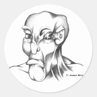 人間の頭: 気難しい- WB ラウンドシール