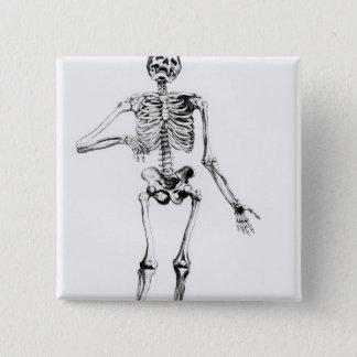 人間の骨組 5.1CM 正方形バッジ
