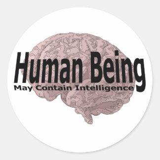 人間は知性を含むかもしれません ラウンドシール