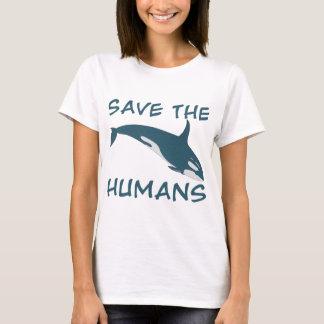 人間を救って下さい Tシャツ