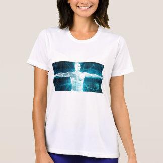 人間工学または生物学の技術バイオテクノロジー Tシャツ