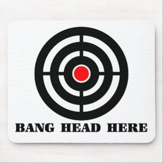 人間工学的のストレスレリーフ、浮き彫り: ここの強打の頭部 マウスパッド