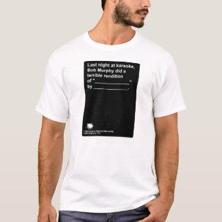 """人間性""""ボブマーフィー""""に対する自由意志論者 Tシャツ"""