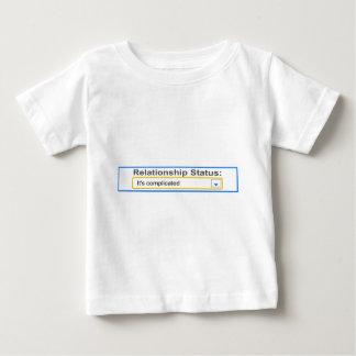人間関係の状態それはデザインを複雑にしました ベビーTシャツ