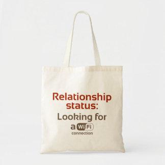 人間関係の状態: WIFIのつながりを捜すこと トートバッグ
