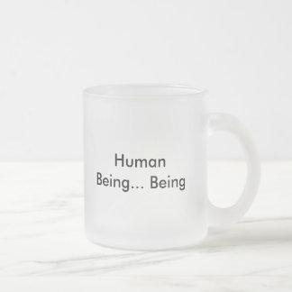 人間… あります フロストグラスマグカップ