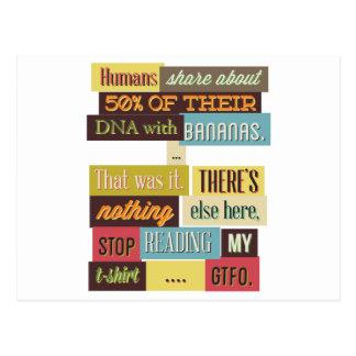 人間DNAのメールや文字を打つのデザイン ポストカード
