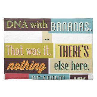 人間DNAのメールや文字を打つのデザイン ランチョンマット