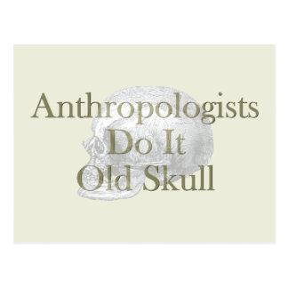 人類学者はそれを古いスカルします ポストカード
