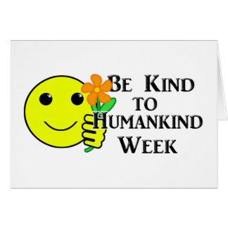 人類週に親切があって下さい カード