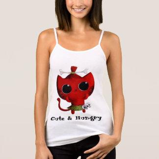 人食いのハロウィン愛らしい猫 タンクトップ