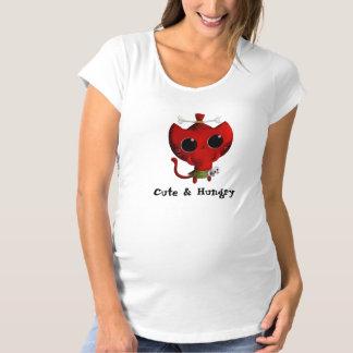 人食いのハロウィン愛らしい猫 マタニティTシャツ