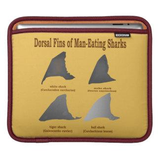 人食い鮫の背びれ iPadスリーブ