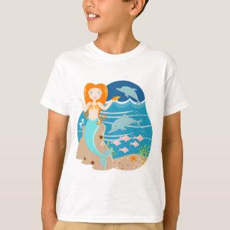 人魚およびイルカの誕生会 Tシャツ