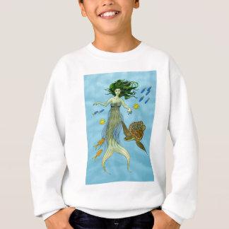人魚およびウミガメ スウェットシャツ