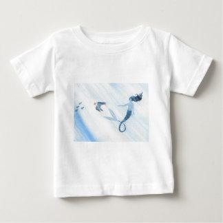 人魚およびツノメドリ ベビーTシャツ