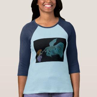 人魚およびベータ魚のワイシャツ Tシャツ