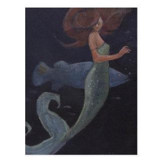 人魚および青い魚 ポストカード