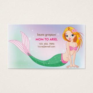 人魚のお母さんのテレホンカード 名刺