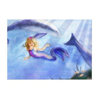 人魚のキャンバスの写真 キャンバスプリント