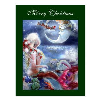 人魚のクリスマスイブの郵便はがき ポストカード