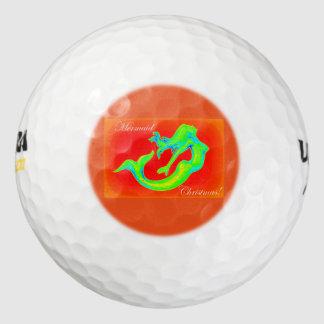人魚のクリスマス ゴルフボール