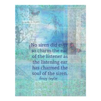 人魚のサイレンのお洒落な芸術の詩の引用文 レターヘッド