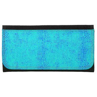 人魚のスケールのネオン青いビーガンの革