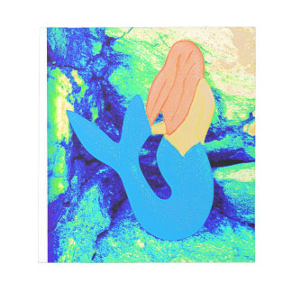 人魚のデザイン ノートパッド