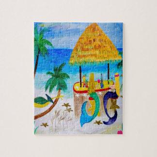 人魚のビーチのTikiのバーの芸術 ジグソーパズル