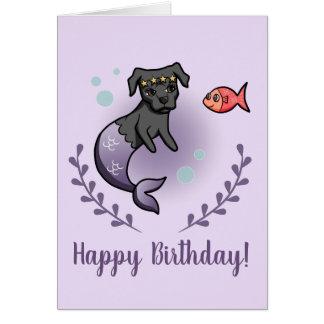 人魚のピット・ブル2の誕生日 カード