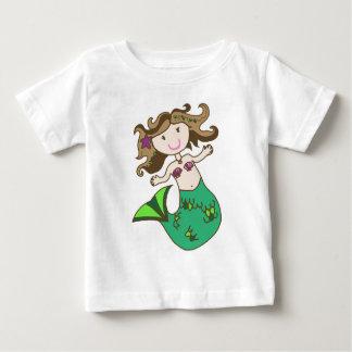 人魚のブルネット ベビーTシャツ