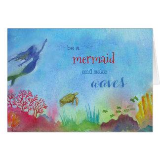 人魚のメッセージカード カード