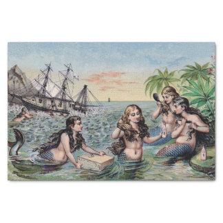人魚のヴィンテージの旧式な魔法の航海の 薄葉紙