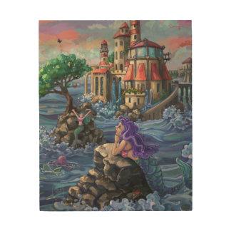 人魚の城 ウッドウォールアート