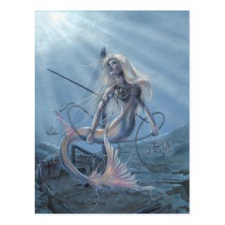 人魚の探検家の郵便はがき ポストカード