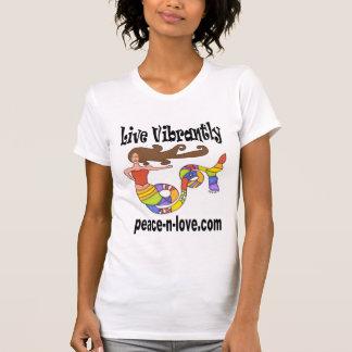 人魚の昇進のTシャツは活気に満ち住んでいます Tシャツ