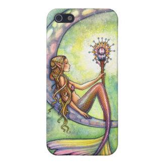 人魚の月の水彩画の人魚のモーリーのハリスンの芸術 iPhone 5 CASE