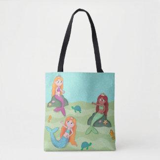 人魚の水泳のバッグ トートバッグ