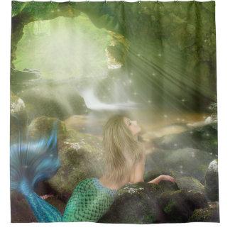 人魚の洞窟のシャワー・カーテン シャワーカーテン