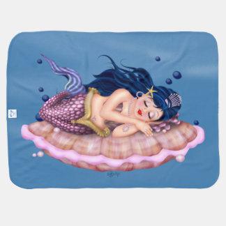 人魚の海の妖精の漫画毛布 ベビー ブランケット