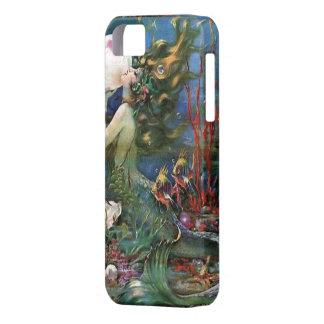 人魚の海底魚のヴィンテージのアール・デコIphoneの場合 iPhone SE/5/5s ケース