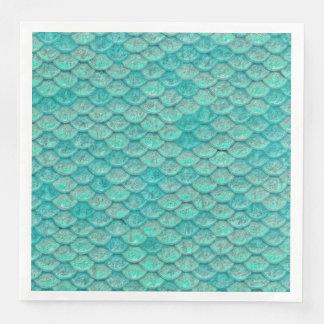 人魚の海緑のはかりで測られた紙ナプキン