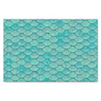 人魚の海緑のスケール 薄葉紙