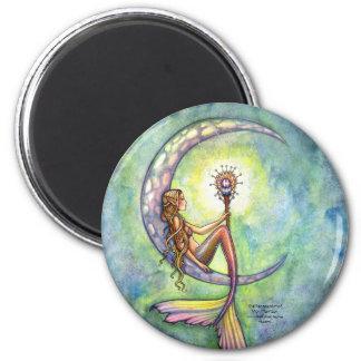 人魚の磁石、モーリーハリスンによる人魚の月 マグネット