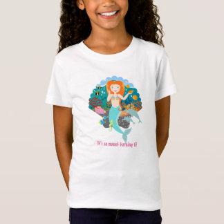 人魚の誕生日の女の子 Tシャツ