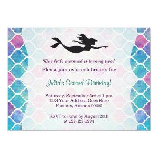 人魚の誕生日の招待状 カード